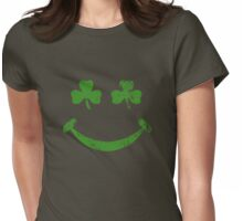 Clover face Womens Fitted T-Shirt