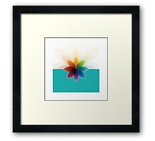 c flower Framed Print