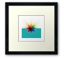 c flower Framed Print