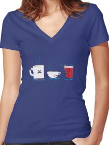 """Ready to go…"" Women's Fitted V-Neck T-Shirt"