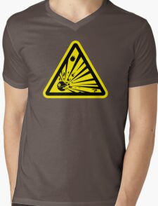 Danger Explosive Battle Station Mens V-Neck T-Shirt