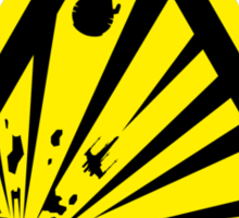 Danger Explosive Battle Station Sticker