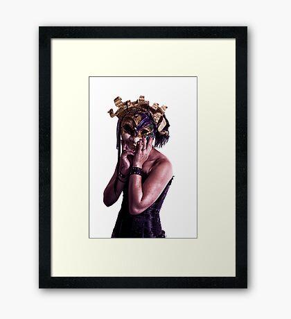 Mardi Mask Framed Print