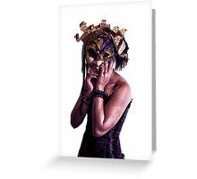 Mardi Mask Greeting Card