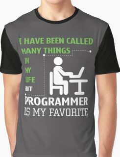 Programmer is my Favorite Graphic T-Shirt