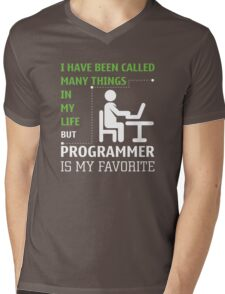 Programmer is my Favorite Mens V-Neck T-Shirt