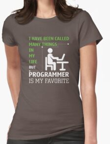 Programmer is my Favorite Womens Fitted T-Shirt