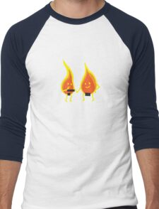 Naked Flames Men's Baseball ¾ T-Shirt