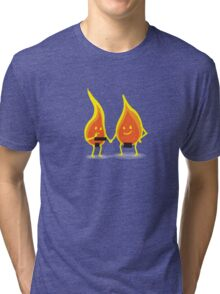 Naked Flames Tri-blend T-Shirt