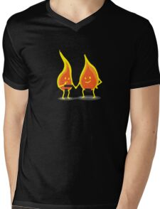 Naked Flames Mens V-Neck T-Shirt