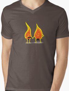 Naked Flames Mens V-Neck T-Shirt