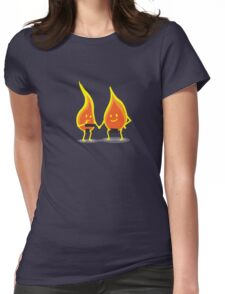 Naked Flames Womens Fitted T-Shirt