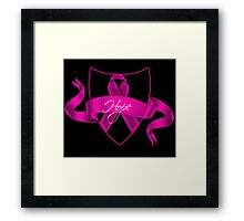 Breast Cancer Hope Poster Framed Print