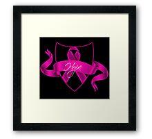 Breast Cancer Hope Poster Framed Print