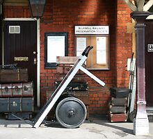 Bluebell Railway platform, Sheffield Park, Sussex by Maxine Collins
