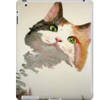 I'm All Ears: A Curious Calico Cat Portrait iPad Case/Skin