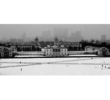 Snow in Greenwich Photographic Print