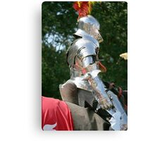 Medieval knight in shining armour Canvas Print