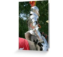 Medieval knight in shining armour Greeting Card