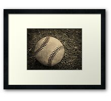 Old Baseball Framed Print