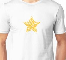 Striped star, yellow Unisex T-Shirt