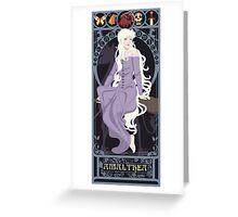 Amalthea Nouveau - The Last Unicorn Greeting Card