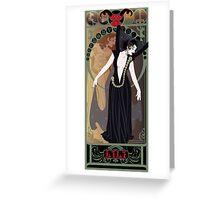 Dark Lili Nouveau - Legend Greeting Card