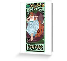 Thumbelina Nouveau - Thumbelina Greeting Card