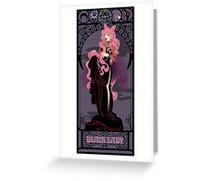 Black Lady Nouveau - Sailor Moon Greeting Card