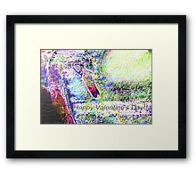 Black swan in the moonlight abstract Framed Print