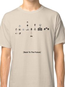 Back To The Future Pictogram Story  Classic T-Shirt