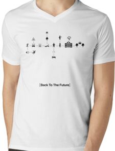 Back To The Future Pictogram Story  Mens V-Neck T-Shirt