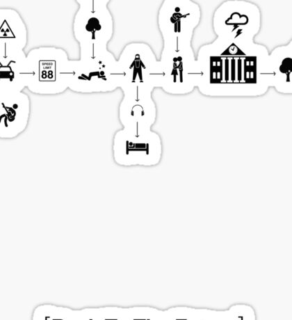 Back To The Future Pictogram Story  Sticker