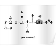 Back To The Future Pictogram Story  Poster