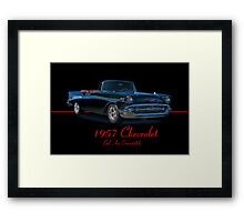 1957 Chevrolet Bel Air Convertible w/ ID Framed Print