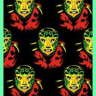 Mascarado Wall Print Green by counterpartfilm