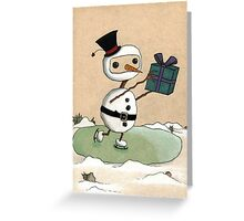 Snowman Gift Greeting Card