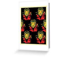 El Mascarado Wall Yellow Greeting Card