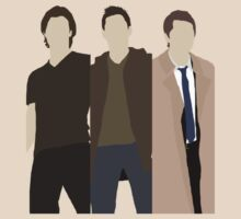 ALT Supernatural Team Free Will (Sam, Dean & Castiel) minimalist t-shirt/sticker by Hrern1313