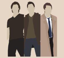 ALT Supernatural Team Free Will (Sam, Dean & Castiel) minimalist t-shirt/sticker by Hrern1313