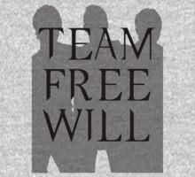 Supernatural Team Free Will Black Silhouette (Sam, Dean & Castiel)  minimalist t-shirt/sticker by Hrern1313