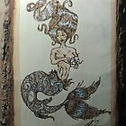 Censored Mermaid Pyrography by WRoss