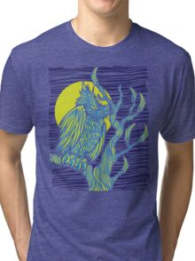 Owl Night Tri-blend T-Shirt