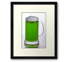 Green Beer Framed Print