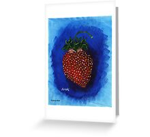 'STUDY FOR A STRAWBERRY'  Greeting Card