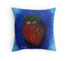 'STUDY FOR A STRAWBERRY'  Throw Pillow