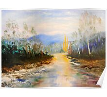 ovens river winter color Poster