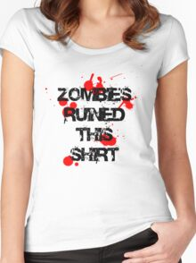 Zombies Ruined This Shirt Women's Fitted Scoop T-Shirt