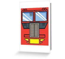 Transformers - Optimus Prime Greeting Card