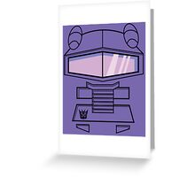 Transformers - Shockwave Greeting Card
